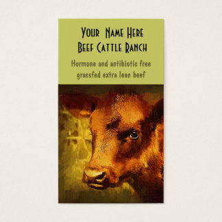 Butcher, Auction or Farm Feed Mills Business Card