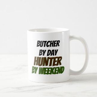 Butcher by Day Hunter by Weekend Classic White Coffee Mug