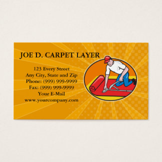 Butcher Cutter Worker Meat Cleaver Knife Retro Business Card