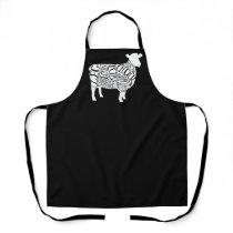 Butcher diagram meat cuts clock duck lamb sheep apron