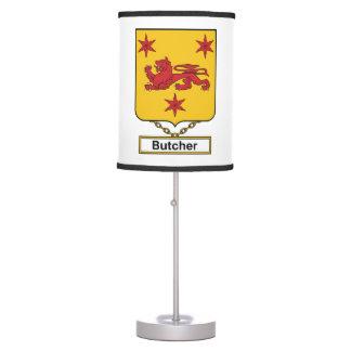 Butcher Family Crest Desk Lamp