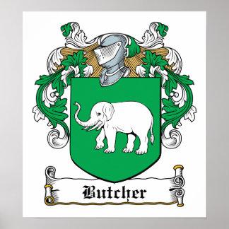 Butcher Family Crest Poster
