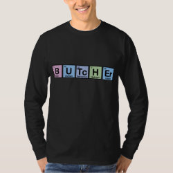 Men's Basic Long Sleeve T-Shirt with Butcher design