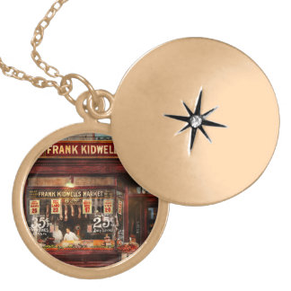 Butcher - Meat priced right 1916 Locket Necklace