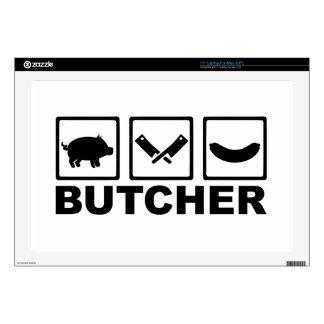 """Butcher pig cleaver sausage 17"""" laptop skins"""