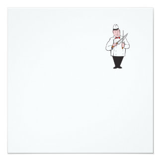 Butcher Sharpening Knife Cartoon Card