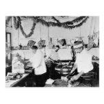 Butcher Shop, 1895 Postcard