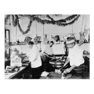 Butcher Shop, 1895 Post Cards