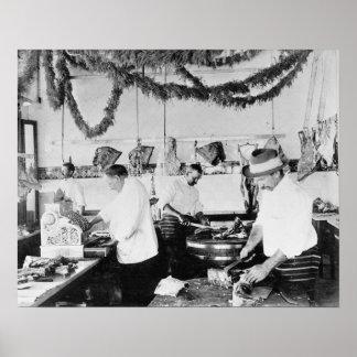 Butcher Shop, 1895. Vintage Photo Poster