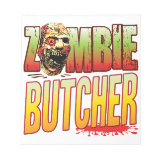 Butcher Zombie Head Memo Note Pad