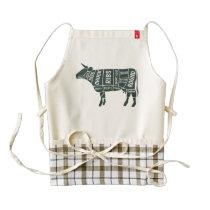 Butcher's Cow Selection Guide. Zazzle HEART Apron