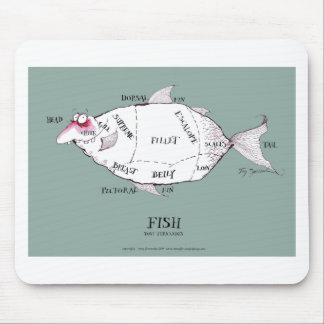 butchers cuts fish, tony fernandes mousepad