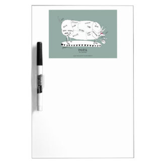 butchers cuts pig, tony fernandes message pad Dry-Erase whiteboard