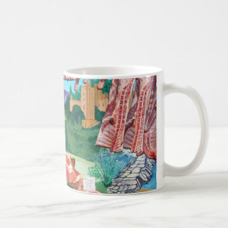 Butchers shop counter coffee mug