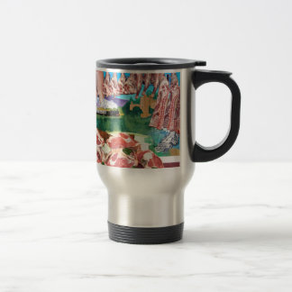 Butchers shop counter travel mug