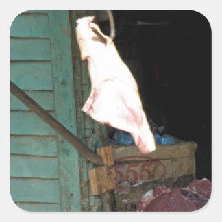 butchershop pegatina cuadrada
