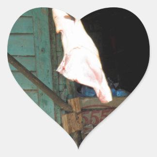 butchershop pegatina en forma de corazón
