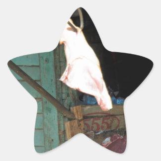 butchershop pegatina en forma de estrella