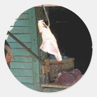 butchershop pegatina redonda