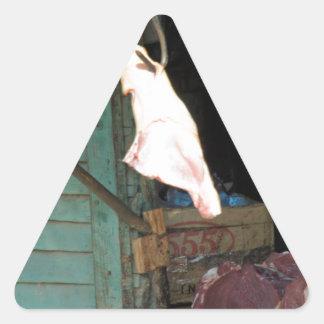 butchershop pegatina triangular