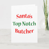 ButcherTop Notch Holiday Card