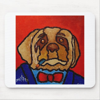 Butchie Dog by Piliero Mouse Pad