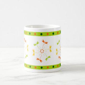 Buterflies in circles and colors coffee mug