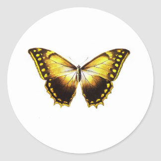Buterfly Classic Round Sticker