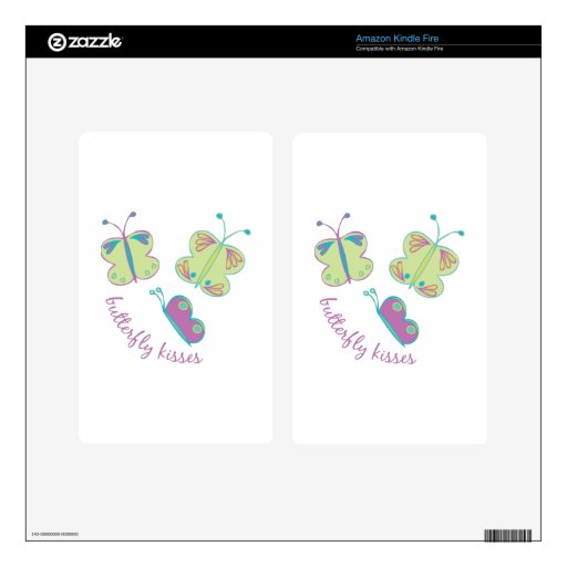 Buterfly Kisses Kindle Fire Decals
