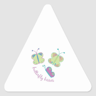 Buterfly Kisses Triangle Sticker