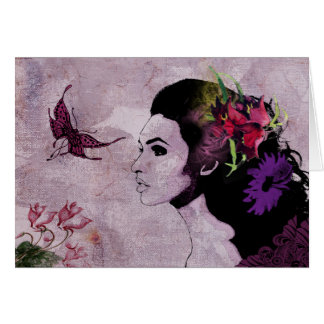 Buterfly Lady greeting card