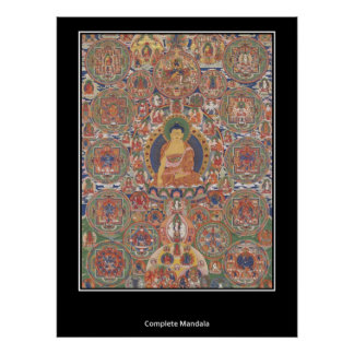 Buthanese Complete Mandala XIX Century Poster
