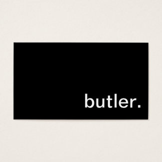 Butler Business Card