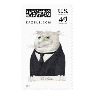 Butler Cat Large 1st Class 1oz Postage Stamps