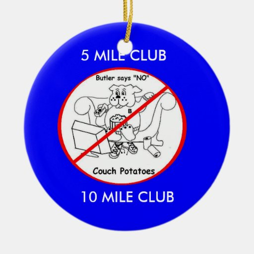 Butler Double-Sided Ceramic Round Christmas Ornament