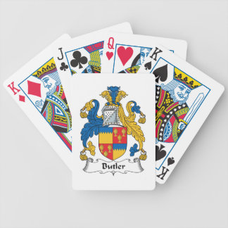 Butler Family Crest Bicycle Poker Cards