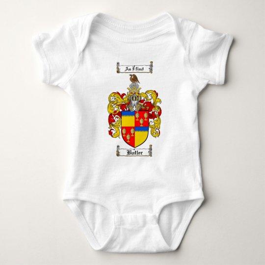 BUTLER FAMILY CREST -  BUTLER COAT OF ARMS BABY BODYSUIT