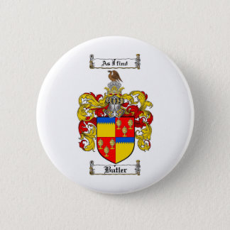BUTLER FAMILY CREST -  BUTLER COAT OF ARMS BUTTON