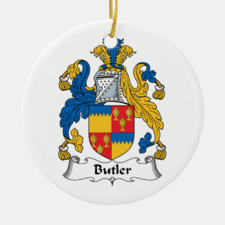 Butler Family Crest Ceramic Ornament