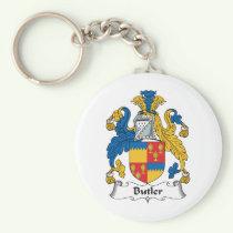 Butler Family Crest Keychain