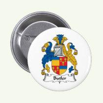 Butler Family Crest Button