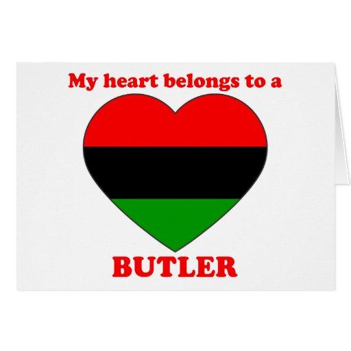 Butler Greeting Card
