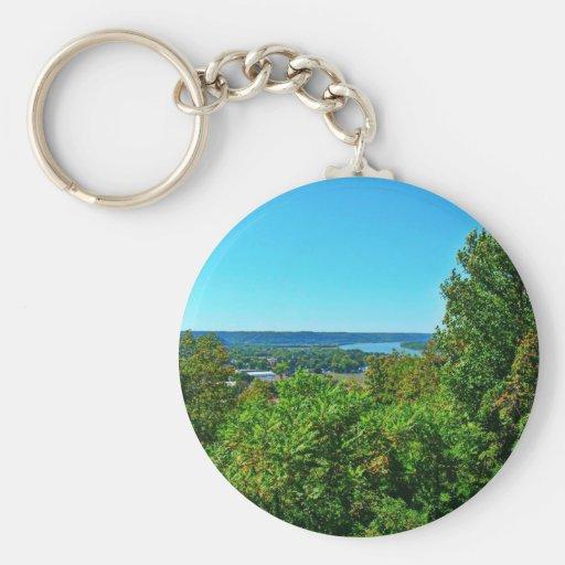 Butler Hill Overlook Basic Round Button Keychain