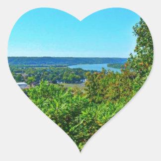 Butler Hill Overlook Heart Sticker