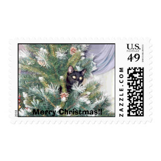 Butler in Christmas Tree Postage Stamps