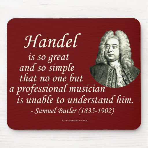 Butler on Handel Mouse Pad