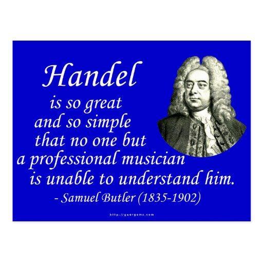Butler on Handel Postcards