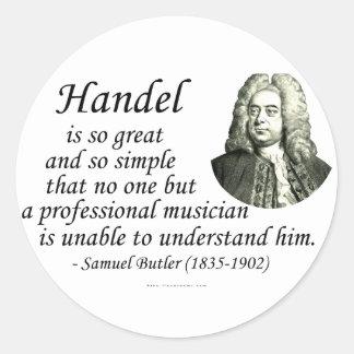 Butler on Handel Stickers