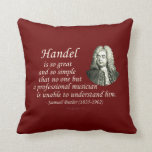 Butler on Handel Throw Pillow