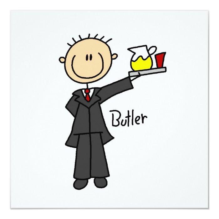 Butler Stick Figure Card